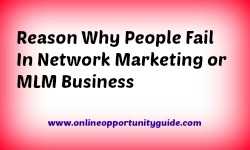 Why people fail doing network marketing
