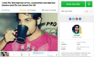 top fiverr gig wordpress design