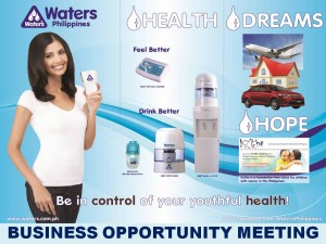business opportunity with waters philippines