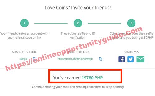 coins.ph referral commissions