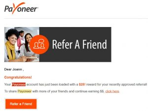 Get paid by payoneer