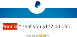 yoonla payout july