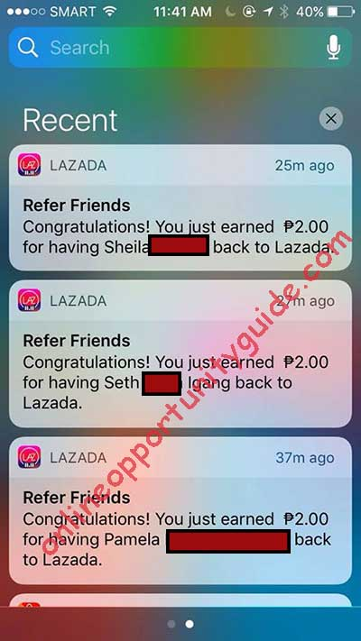 lazada app earnings