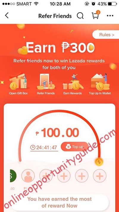daily earnings with lazada